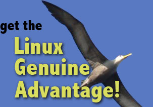 get the Linux Genuine Advantage! (with picture of soaring albatross)